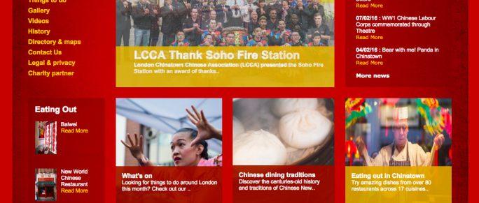 Cadava: work history, project image, fourcommunications, Chinatown London