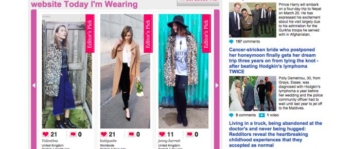 Cadava: work history, project image, dmgmedia, dailymail, femail, slider, today im wearing