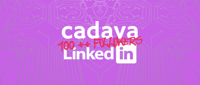 www.cadava.com, cadava reaches 100++ followers on linkedin
